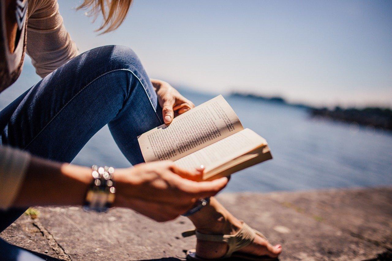 Boek lezen klif